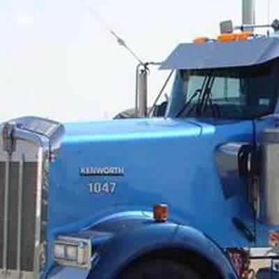 Light Blue Kensworth Semi
